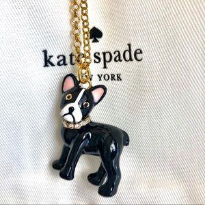 Kate Spade Bulldog Pendant Long Necklace